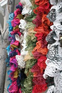 Easy Crochet Ruffle Scarf Tutorial with Pictures
