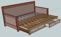 Pull-out Daybed plans | Home DIY Ideas | Pinterest ...