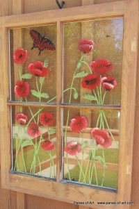 antique window painging ideas | Hand Painted Window Panes ...
