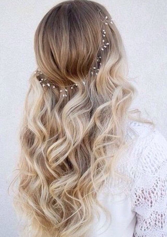 Sweet 16 hair idea simple and sweet  Party ideas