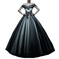 Black White Tulle Gothic Emo Prom Dress | My Style ...