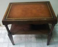 Antique Coffee Tables w/leather inlay | Mahogany Leather ...