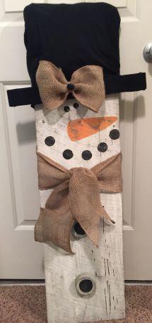 Barn Wood Snowman Pinteres
