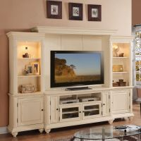 Addison Palladian White Home Entertainment Center | Living ...
