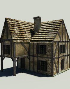 Free medieval house  model also modeling pinterest rh