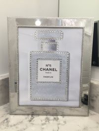 Silverplate Framed Chanel No. 5 Perfume Parfum White ...