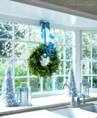 hang wreath above kitchen sink