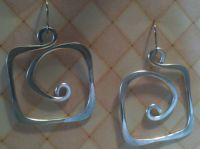 Aluminum Wire Jewelry Earrings Square Hoops Lightweight