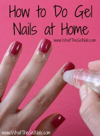How to Do Gel Nails at Home... all i need is my UV lamp to ...
