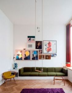 modern interior design ideas adding fun to room decor with playful swings and hammock chairs also patterned wood floors built in couch storage underneath rh pinterest