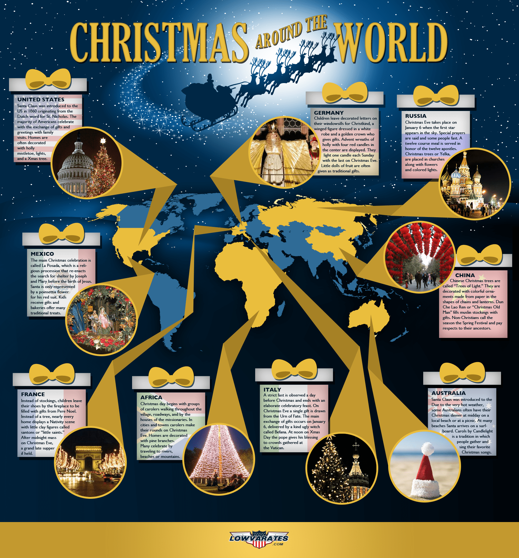 Christmas Around The World Infographics
