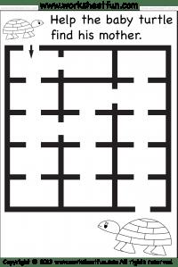 Beginner Mazes – Preschool and Kindergarten