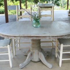 Grey Kitchen Table And Chairs Small Dining Room Primitive Proper Weathered Paris Gray How