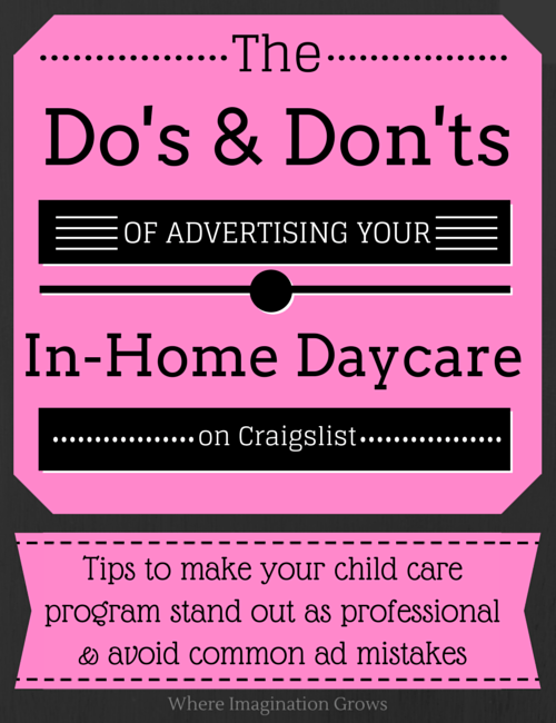 Advertising Your Family Child Care Program  Child care