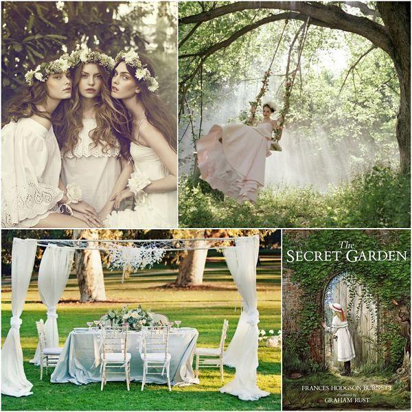 Kym Love Wed Bliss Inspiration Board The Secret Garden #wedding