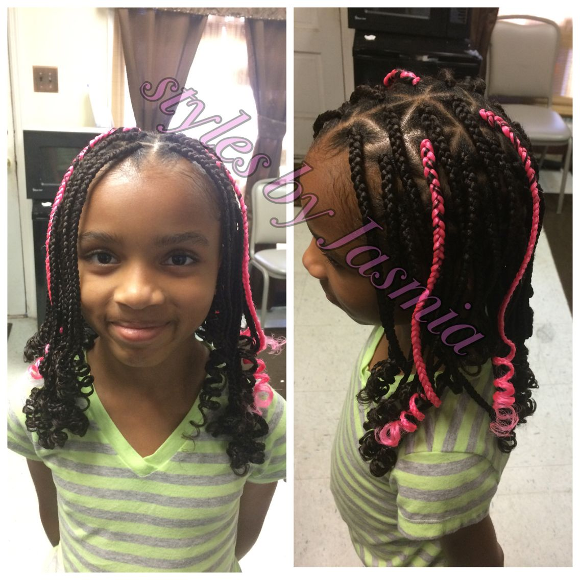 Kids box braids  Styles by Jasmia  Pinterest  Kids box