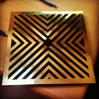 bought metallic paper from michaels craft store and drew ...