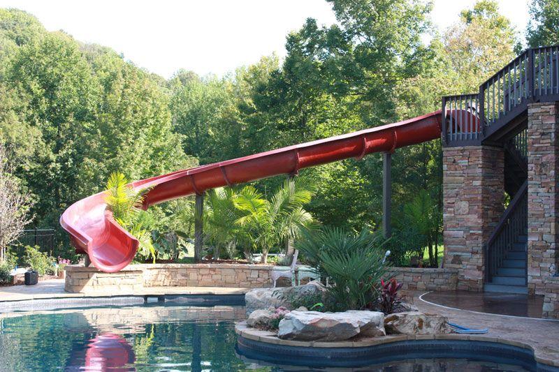 A huge #pool slide for a #backyard ! So fun!!! Dolphin