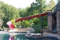 A huge #pool slide for a #backyard ! So fun!!! Dolphin