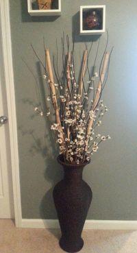 Bamboo from Dollar Tree, black wood wavy sticks from IKEA ...