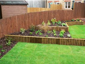 Sloping Garden Design Garden Completed Borders Sloping Garden