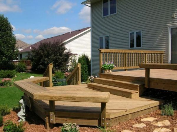 bi level front porch pictures photos images Deck