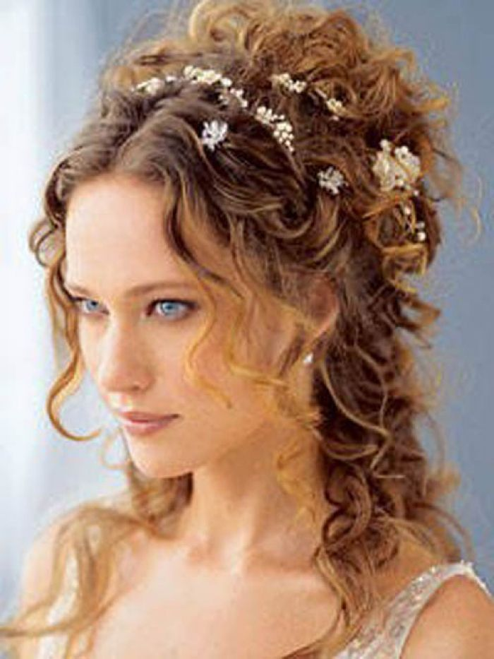 Delectable Curly Wedding Design Hairstyles Endearing Long Curly