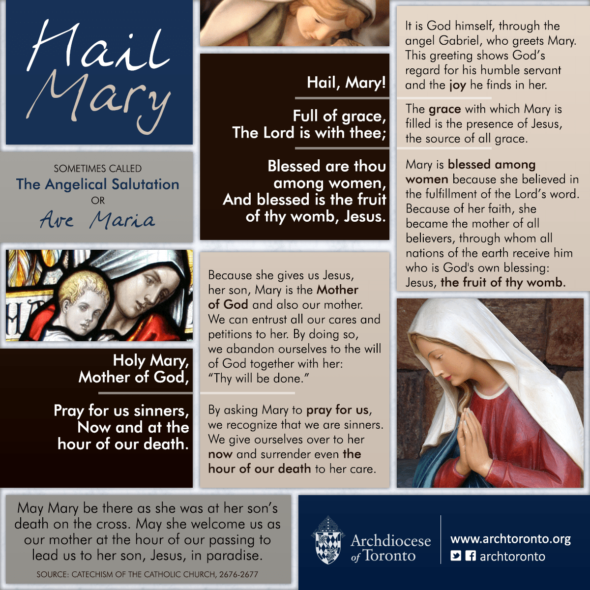 The Hail Mary Deconstructed Infographic Marian Prayer