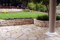 patio with retaining wall ideas