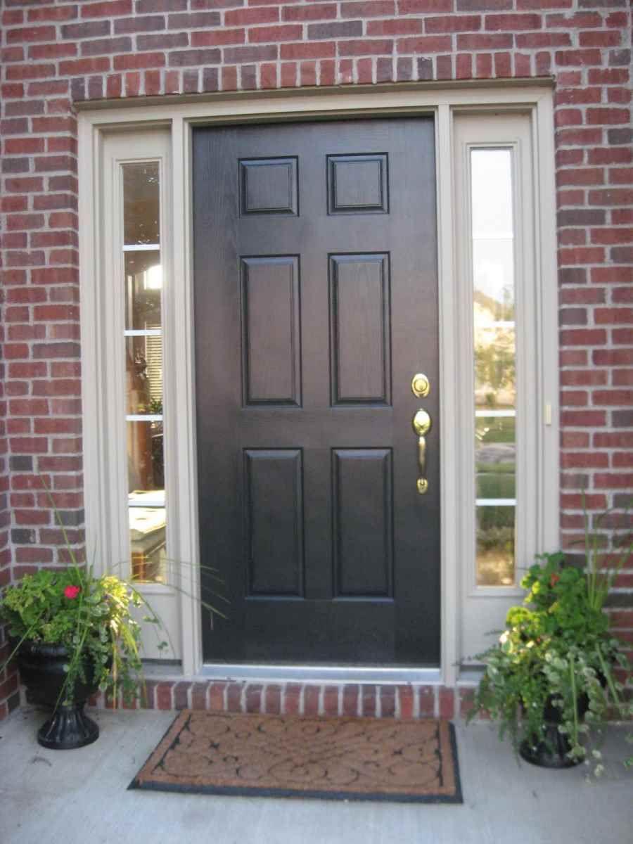 Furniture Design Luxurious Dark Wooden Front Door Color Combined