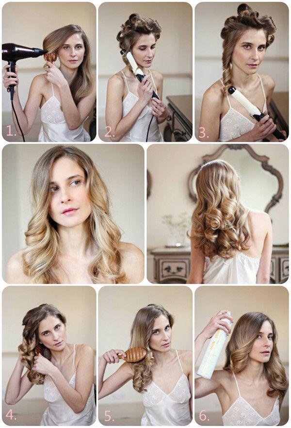 Wave Hair Tutorial Hair Pinterest Abiball Frisuren Erste