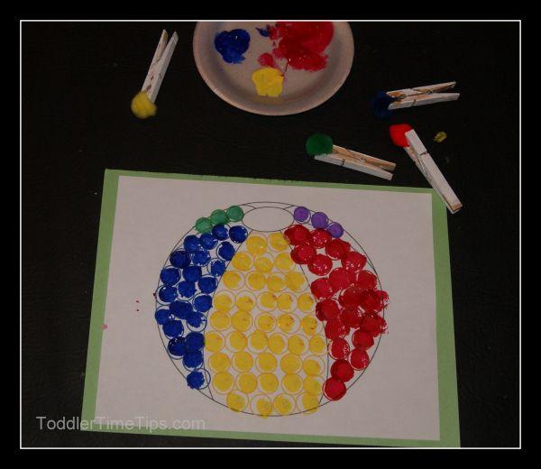 Ball Preschool Art Activities