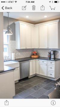 Kitchen Floor - Montauk black 12x24 slate | Kitchen ...