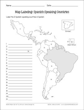Spanish-Speaking Countries and Capitals Maps and Quiz