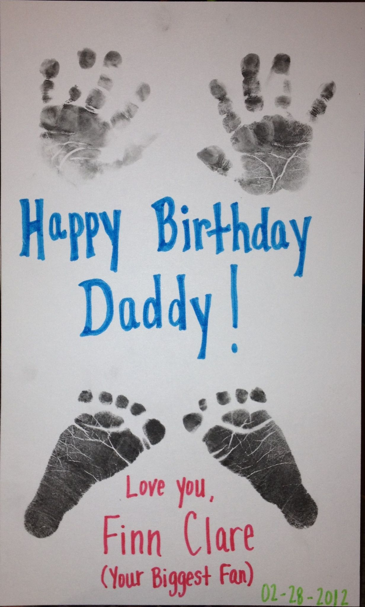 Birthday Card For Daddy Olivia Pinterest Birthdays