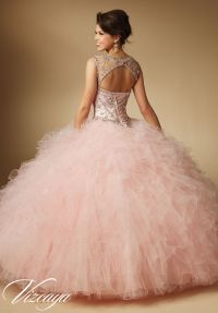 89041 Quinceanera Gowns Jeweled Beading on Ruffled Tulle ...