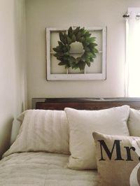 DIY greenery wreath on an old window frame | my pins ...