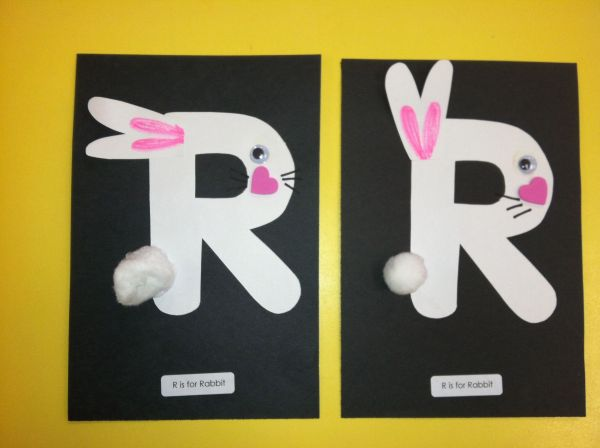 Letter R Arts and Crafts for Preschoolers