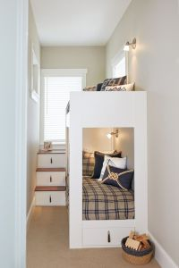 100 Space Saving Small Bedroom Ideas | White bunk beds ...
