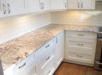 White Ice Granite And Backsplash - Home Design, Fireplace ...
