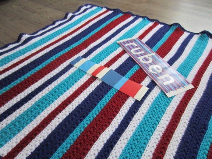 Gehaakte deken mooi patroon voor een jongen  Haken