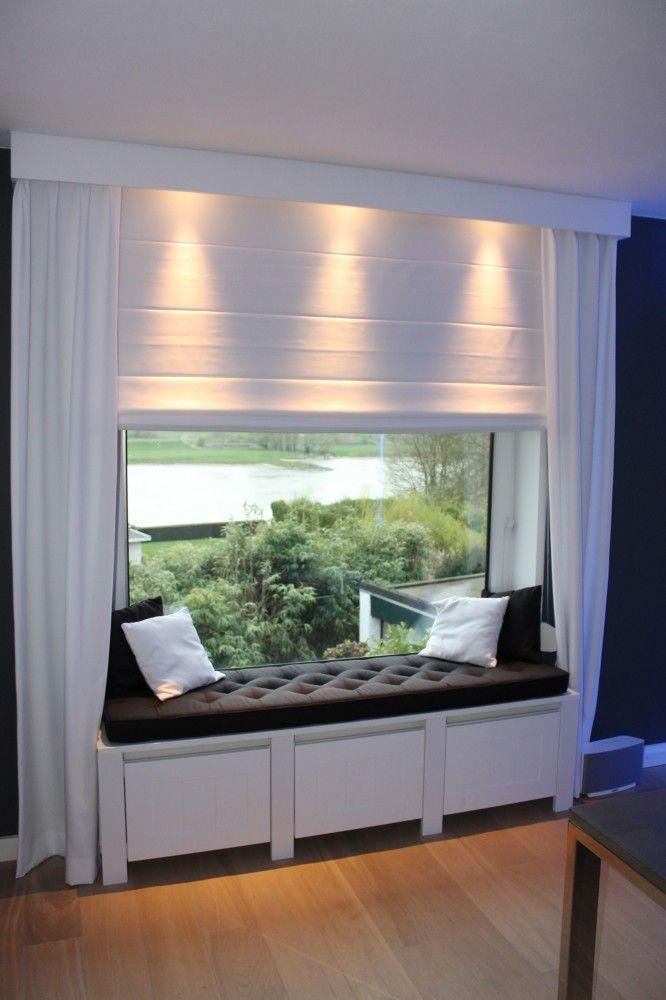 radiator ombouw idee zitje dakkapel Meisjes kamer