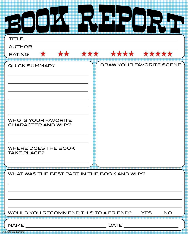 Free Book Report Printable