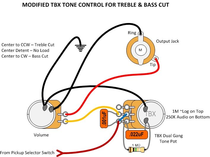 Modified TBX Tone Control Wiring Guitar Mod Ideas Pinterest