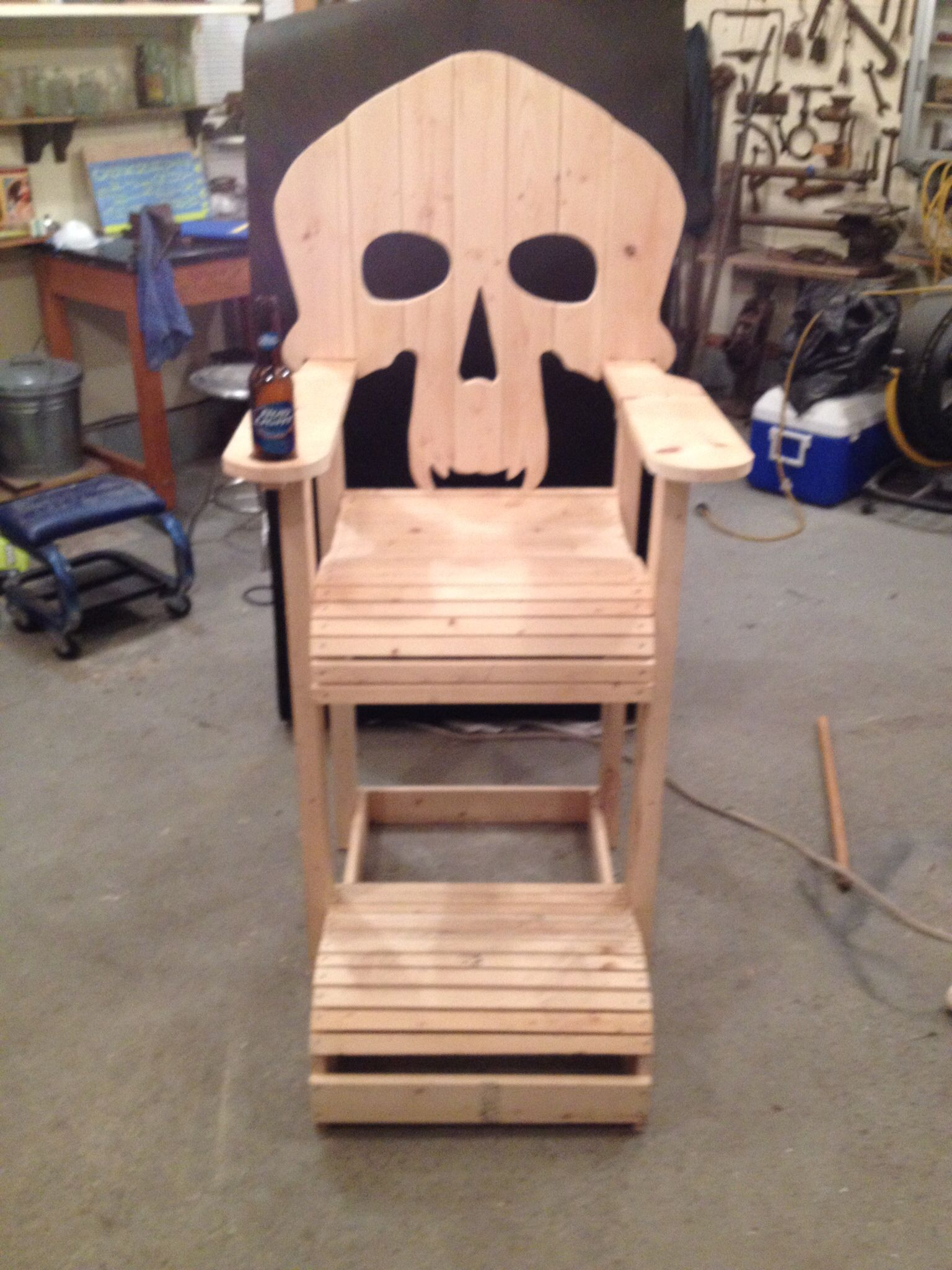 wooden skull chair eddie bauer outdoor our first attempt at pallet projects