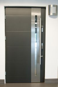 Modern Exterior Doors: Stainless Steel Modern Entry Door ...