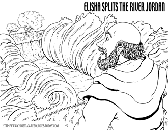 Elisha Splits the River Jordan (II Kings 2) (click the