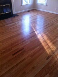 Red Oak With Clear Stain & Bona Traffic HD Satin