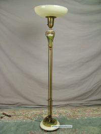 Antique ~ French ~ Torchiere Floor Lamp ~ Marble onyx