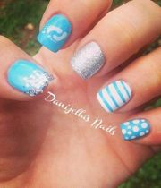 baby shower nail design
